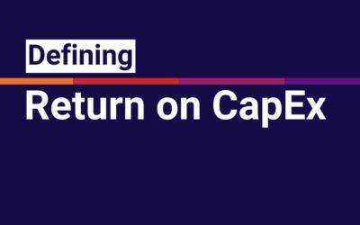 Defining APOGEE: Return on Cap-Ex